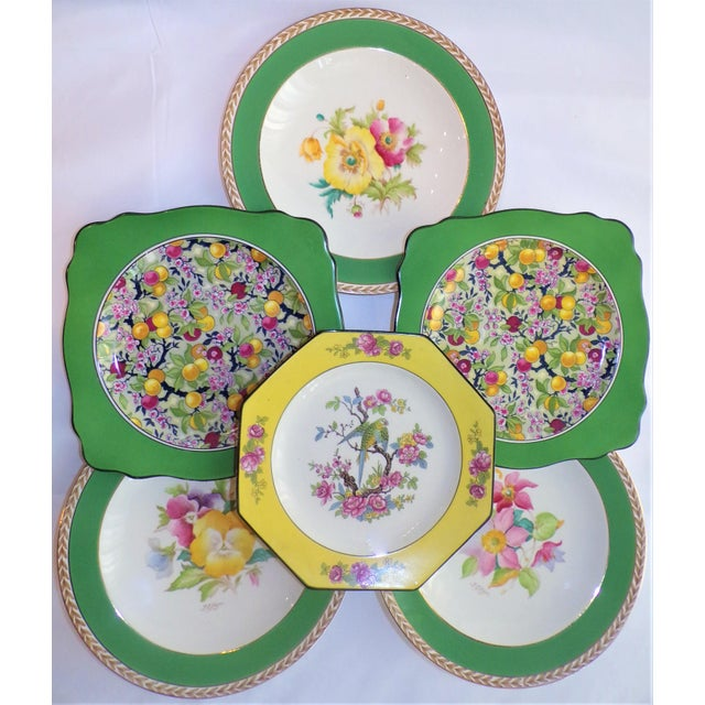(Final Markdown) 930's Crown Ducal Ware Chintz Plates - Set of 6 For Sale - Image 9 of 13
