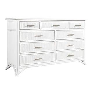 Aruba Nine-Drawer Dresser - White For Sale