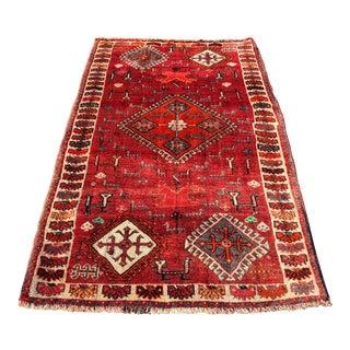 Vintage Persian Qashghi Rug - 4′2″ × 7′