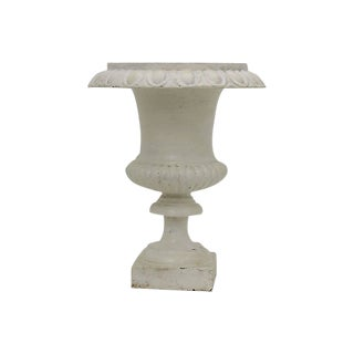 French Cast Iron Garden Urn For Sale