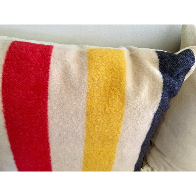 Vintage Authentic Hudson Bay Point Pillows - A Pair - Image 3 of 5