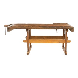 Antique Swedish Country Carpenters Work Bench For Sale