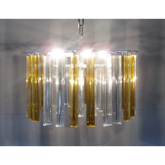 Vintage Retro Glass Rod Chandelier - Image 4 of 6