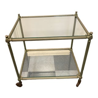 Vintage Italian Metal Cart/End Table For Sale