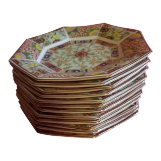 Imari Japanese Chinoiserie Dessert Plates - Set of 12