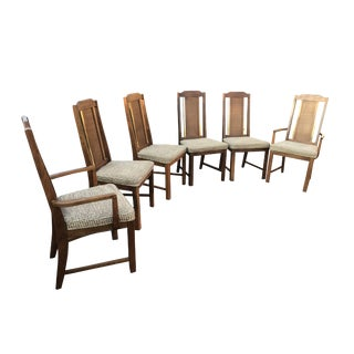 1970s Mid-Century Modern Basset Furniture Dining Chairs- Set of 6