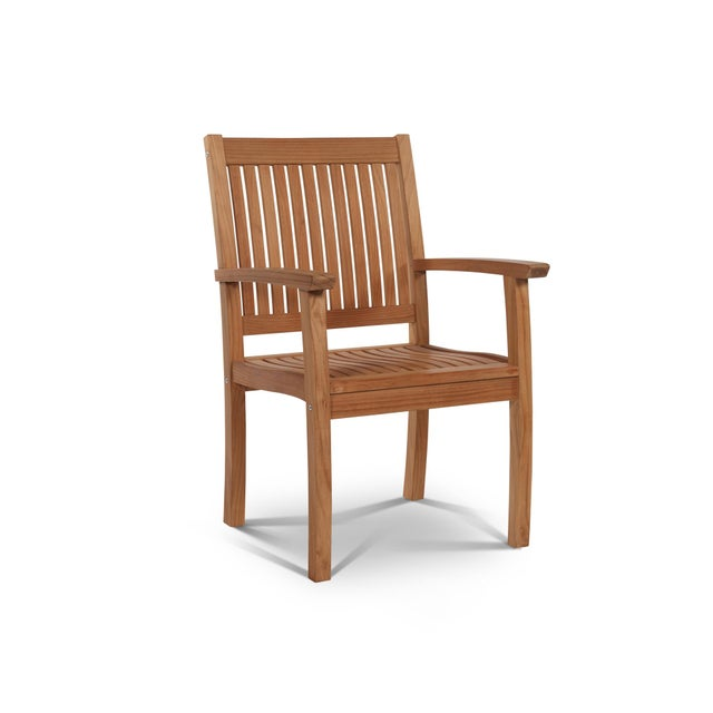 Buckingham Teak Wood Outdoor Dining Armchair For Sale - Image 4 of 4