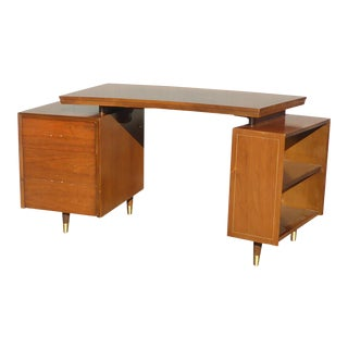 Vintage Mid Century Danish Modern Floating Top Desk