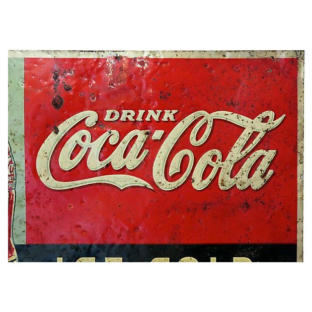 1920s Coca-Cola Advertising Sign - Image 3 of 6