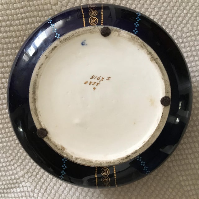 Antique Cobalt Blue French Porcelain Dresser Box For Sale In Columbia, SC - Image 6 of 12