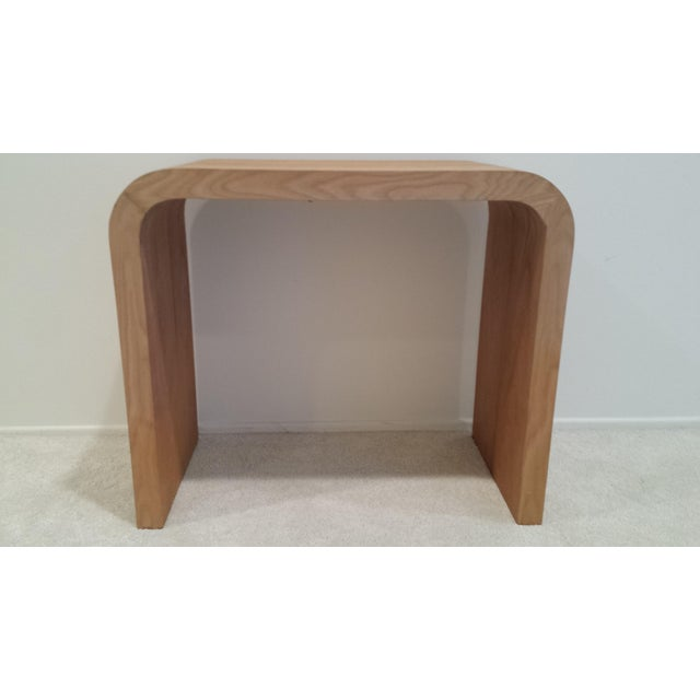 2000 - 2009 Contemporary Oak Waterfall Console Table For Sale - Image 5 of 9