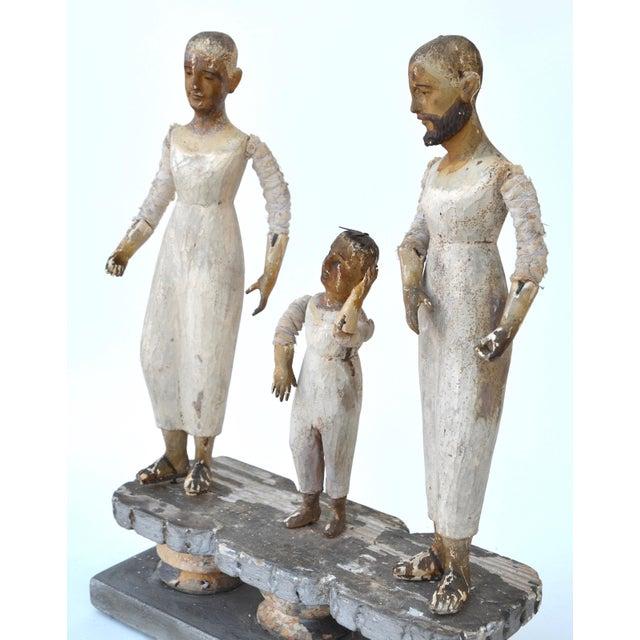 Spanish Colonial 18th Century Santos Trio - Image 4 of 7