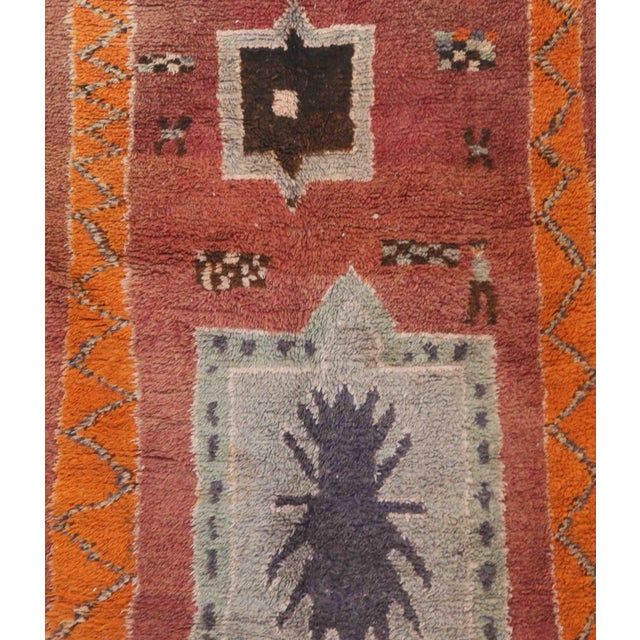 Boujad rugs are handwoven pile rugs from a small region in Haouz between the Middle Atlas and the Atlantic coast of...