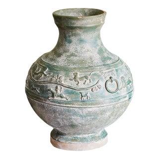 Dark Green Large Vase For Sale