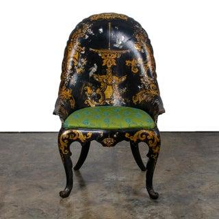 Mid 19th Century Victorian Japanned Papier-Mâché Chair Preview