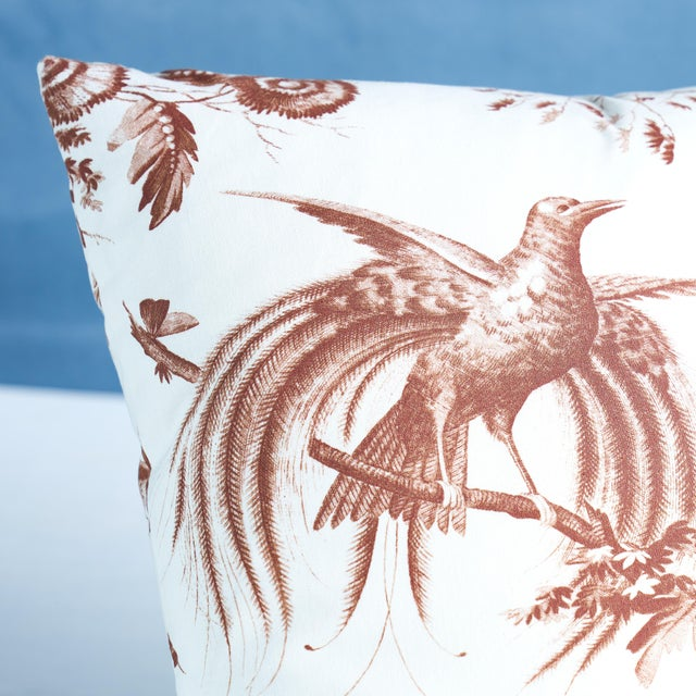 This pillow features Toile De La Prairie with a knife edge finish. A meadow's worth of songbirds, butterflies, blooming...