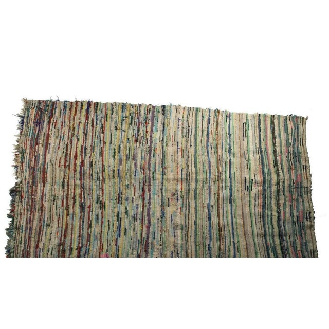 "Vintage Boucherouite Moroccan Carpet - 8'6"" X 4'4"" - Image 3 of 4"
