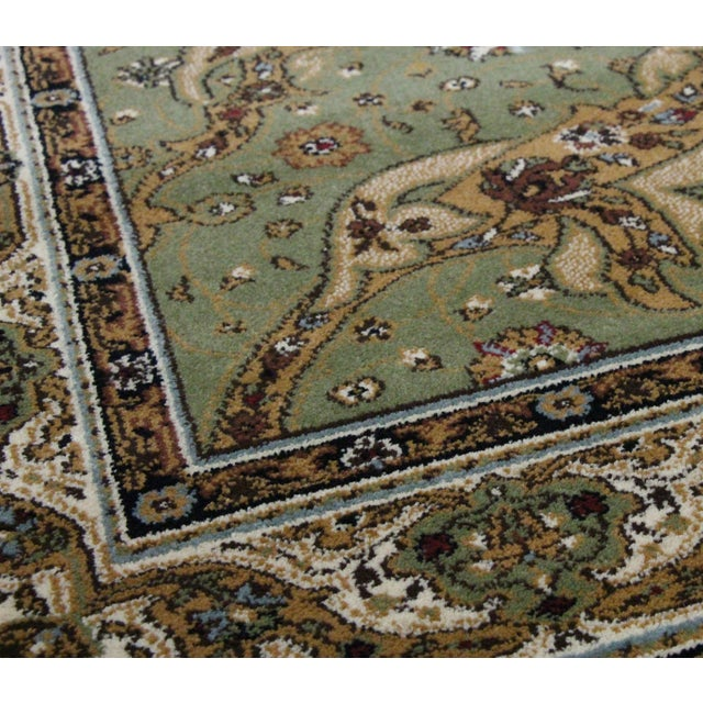 Persian Traditional Green Rug - 8′ × 11′ - Image 4 of 6