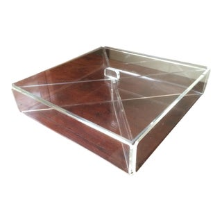Mid-Century Transparent Lucite Box For Sale