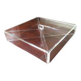 Mid-Century Transparent Lucite Box