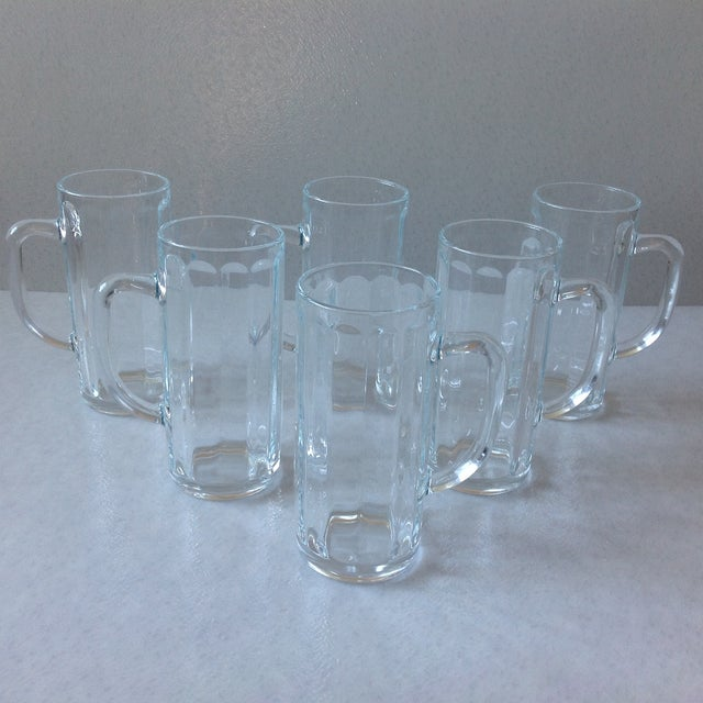 French Pint Beer Mugs - Set of 6 - Image 2 of 6