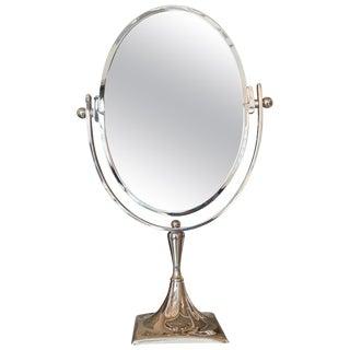 Charles Hollis Jones Vanity Mirror in Polished Nickel For Sale
