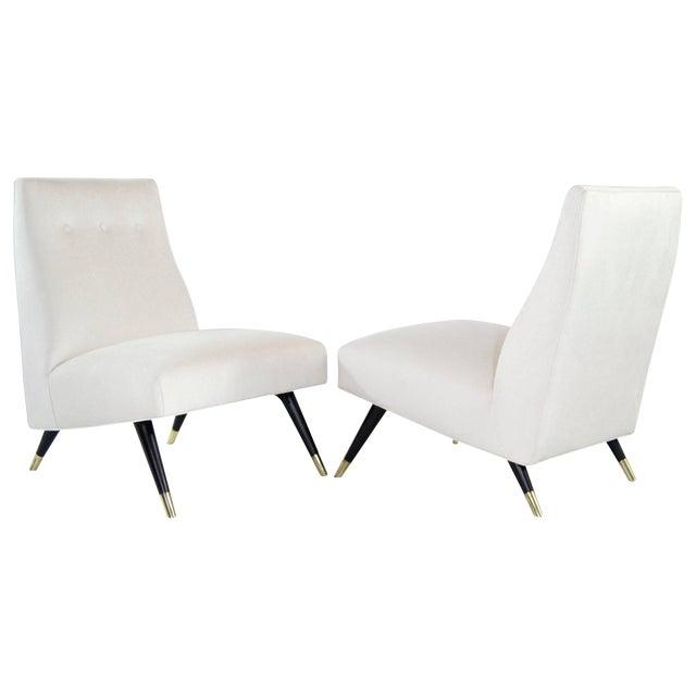 Karpen of California Slipper Chairs, 1950s For Sale