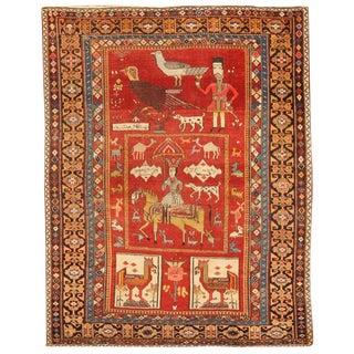 Rare Antique Caucasian Mirasali Rug For Sale
