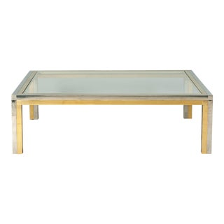 Huge Squared Coffee Table Attributed to Romeo Rega