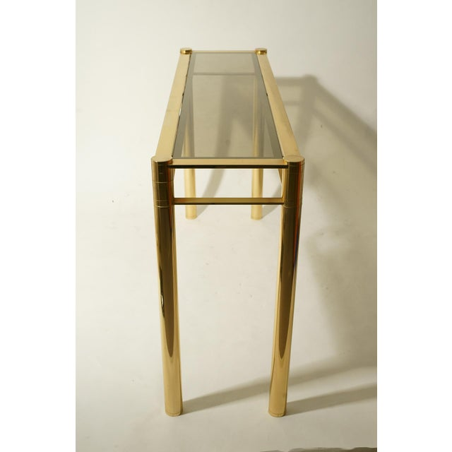 Mid-Century Modern Romeo Rega Gilded Console Table For Sale - Image 3 of 3