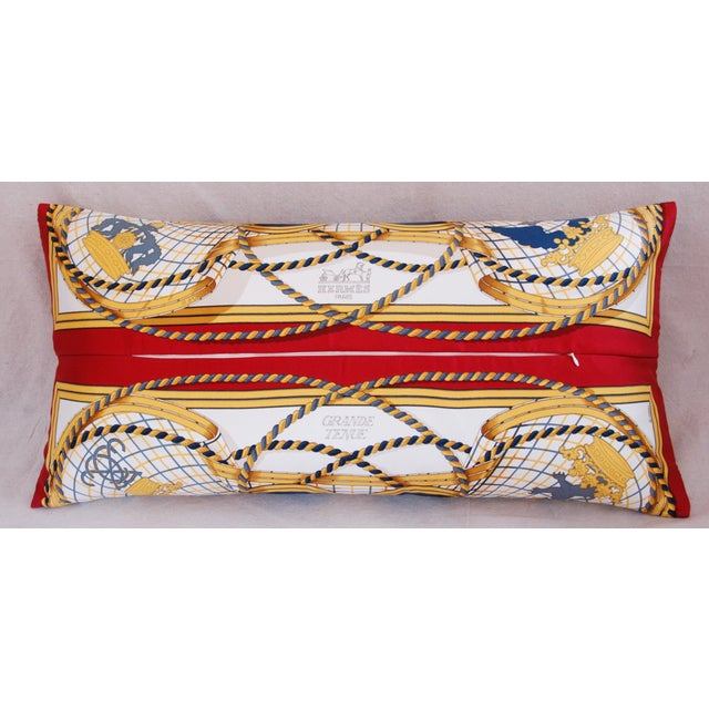 Hermès Henri d'Origny Silk Lumbar Pillow - Image 7 of 11