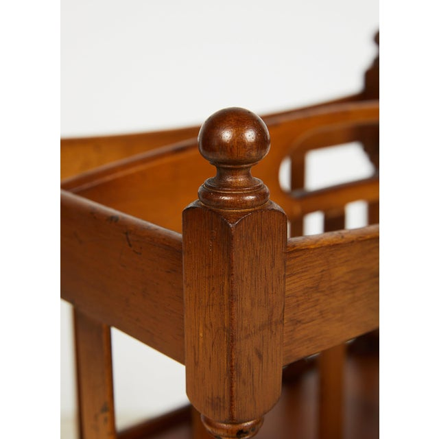 Early 20th Century English Sheraton Style Canterbury For Sale - Image 11 of 13