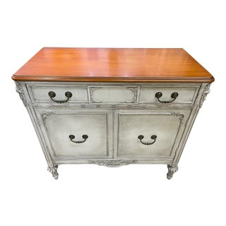 Hand Painted Art Deco Wooden Buffet For Sale