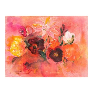 'Warm Floral Abstract' by Emily, 1965 For Sale