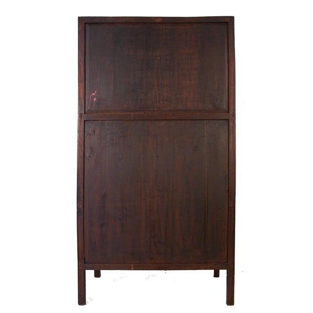 Chinese Antique Carved Wan LI Display Cabinet For Sale - Image 10 of 11