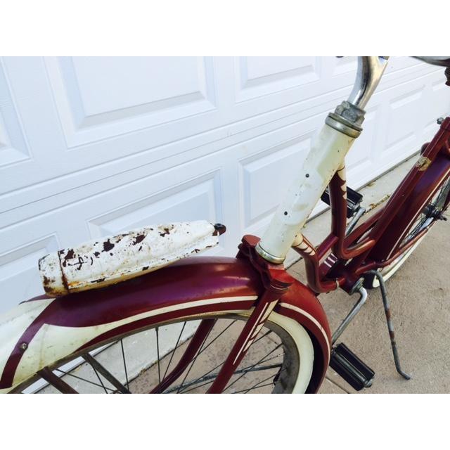Burgundy, White 1950's Columbia Built Cruiser Bike - Image 6 of 10