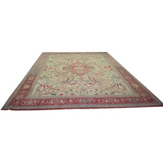 1980s Persian Serapi Style Area Rug - 10′ × 14′4″ For Sale