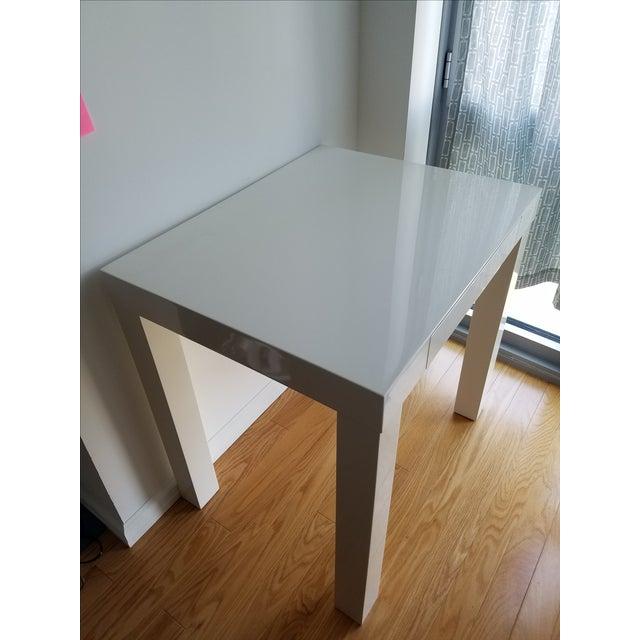 West Elm West Elm Parsons Mini Desk For Sale - Image 4 of 5