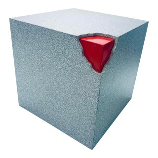 Memphis Milano Style Exposed Corner Cube Table For Sale