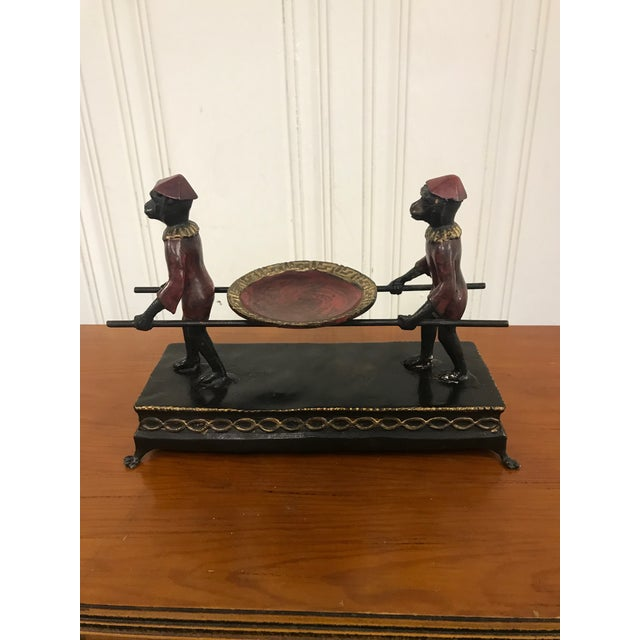 Hand Painted Monkey Calling Card Tray For Sale - Image 11 of 11