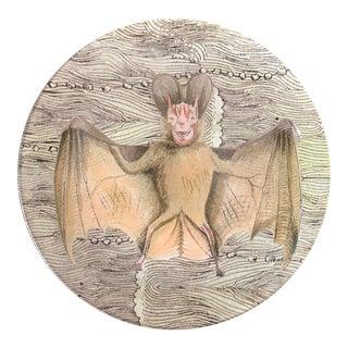 John Derain Decoupage Bat Plate For Sale