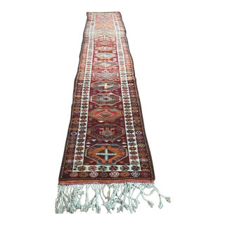 Turkish Vintage Herki Long Runner For Sale