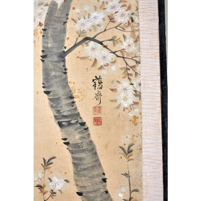 Light Pink Korean Six-Panel Screen of Legendary Chinese Figures For Sale - Image 8 of 13