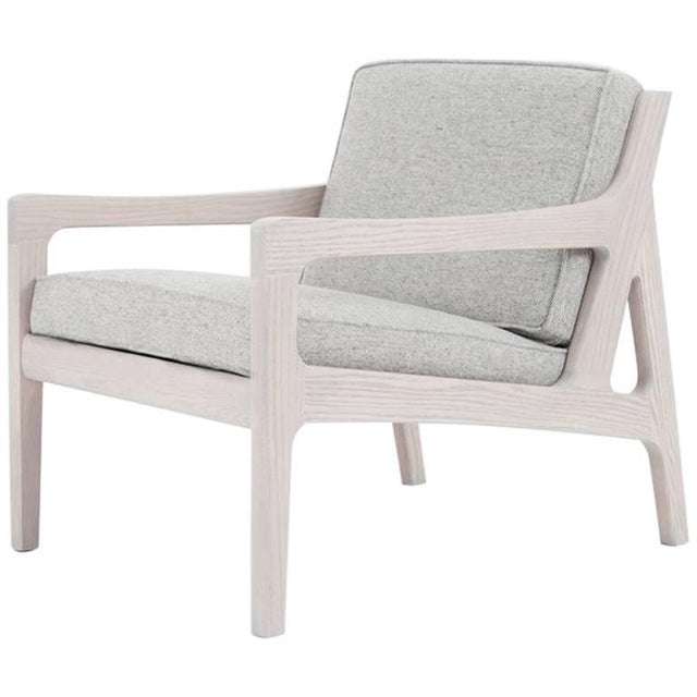 Asa Pingree Pilar Lounge Chair in Fog Gray Ash For Sale - Image 11 of 11