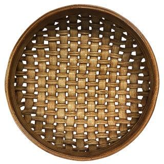 Phil Sellers River Hill Pottery Basket Weave Bowl or Platter For Sale
