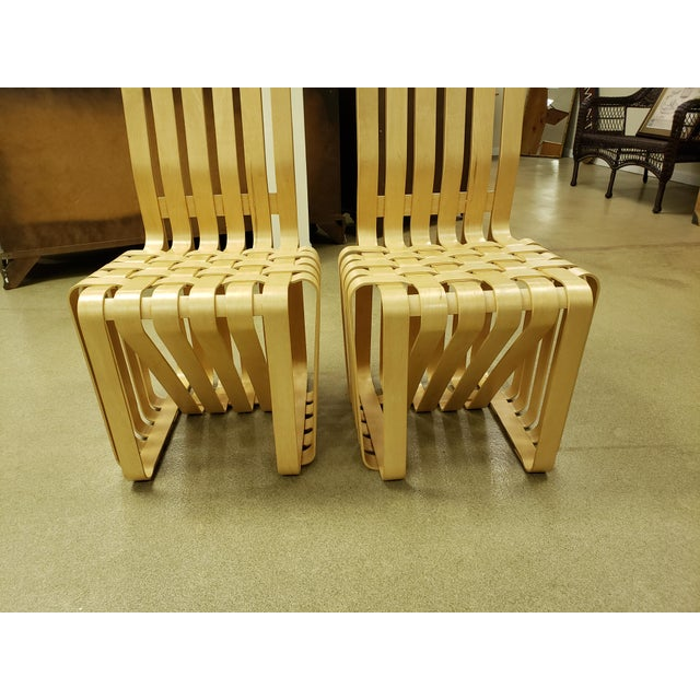 High Sticking High Back Chair by Frank Gehry for Knoll - A Pair For Sale In New York - Image 6 of 8