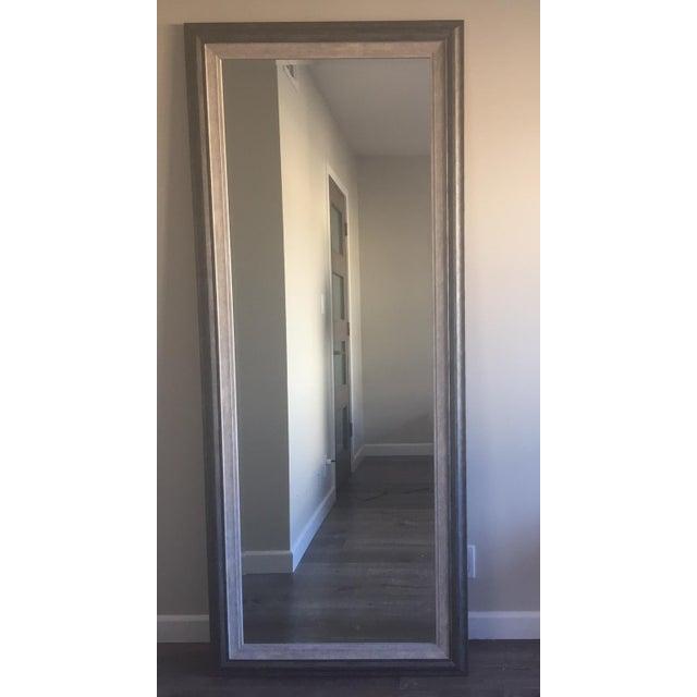 Contemporary Gray Floor Mirror - Image 3 of 6