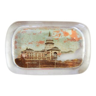 Distressed Circa 1890's Austin Texas Capitol Building Paperweight For Sale