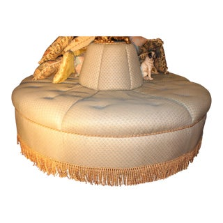 "Fantastic Large ""Fortuny"" Bourne Round Sofa Roundabout For Sale"