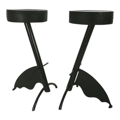 Pair of Platform Stools by Maurizio Peragalli For Sale